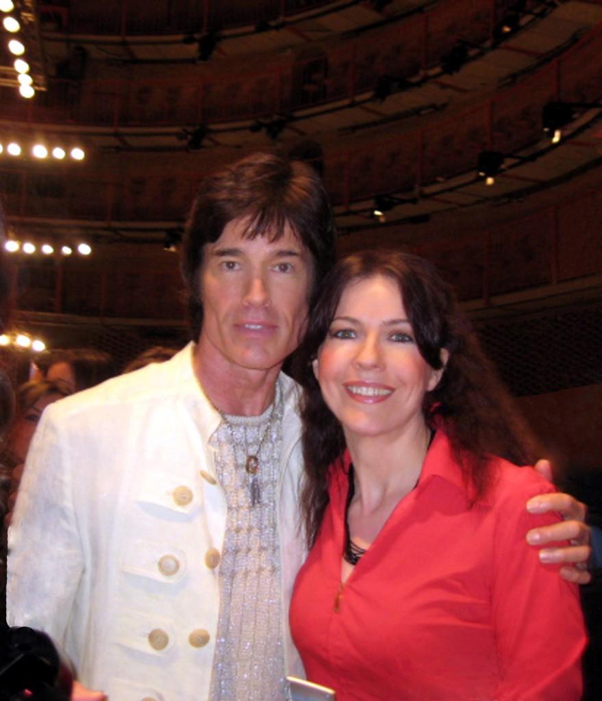 Roberta Potrich e Ronn Moss alla sfilata di Laura Biagiotti