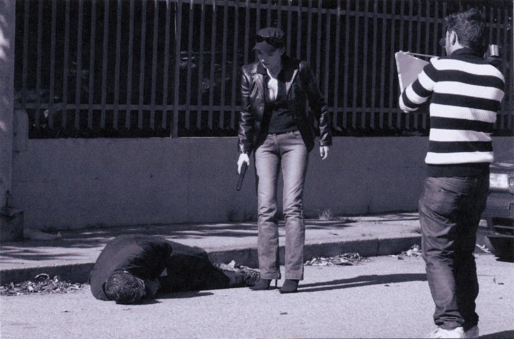 Roberta Potrich sul set del film L'ombra della morte
