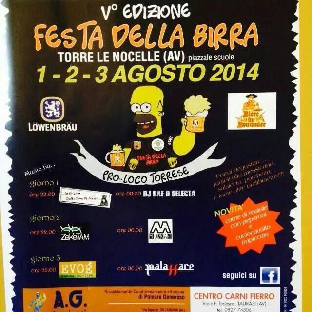 Festa della birra Torre Le Nocelle 1-2-3 agosto 2014