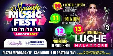 Masserie Music Fest (San Michele di Pratola) 10/11/12/13 Agosto 2017